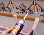 Cambiar la cenefa del ba o bricoman a - Empapelar azulejos cocina ...