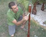 daremos el ltimo toque decorativo a nuestra original antorcha para el jardn aplicando dos manos de aceite de teka respetando entre ambas el tiempo de