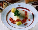 Puerros con salsa romesco