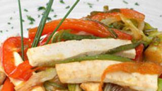 Receta de Arroz integral con tofu y verduras
