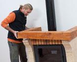 Instalar una chimenea en kit bricoman a - Dintel de madera ...