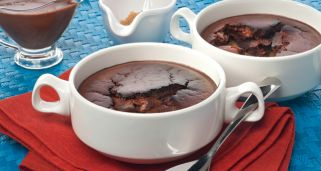Brownie caliente de plátano