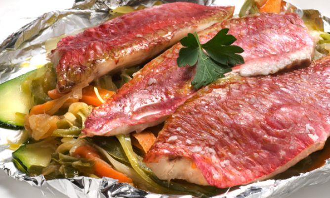 Receta de papillote de salmonetes karlos argui ano for Como cocinar jabali arguinano