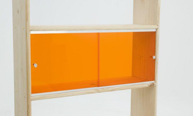 Puerta corredera en mueble bricoman a - Como instalar una puerta corredera ...