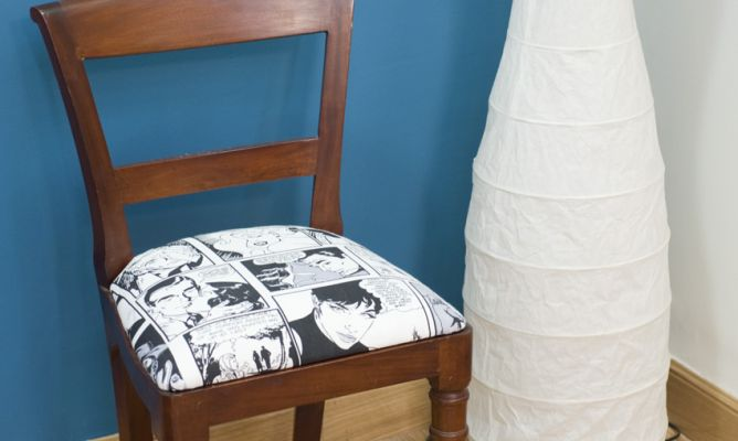 C mo tapizar y renovar una silla paso a paso bricoman a for Como tapizar una silla