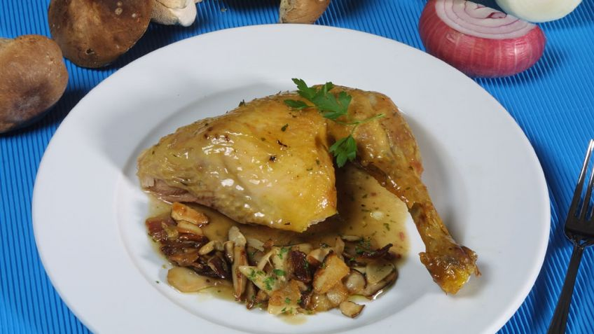 Receta de Pollo asado con finas hierbas - Karlos Arguiñano
