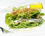 Ensalada picante de boquerones y judías verdes