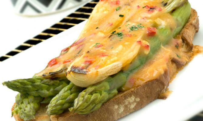 Receta de gratinado de cebolletas y esp rragos con velout - Comidas con esparragos ...