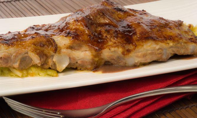 Receta de costillas de cerdo con berza y salsa de alubias bruno oteiza - Alubias rojas con costilla ...