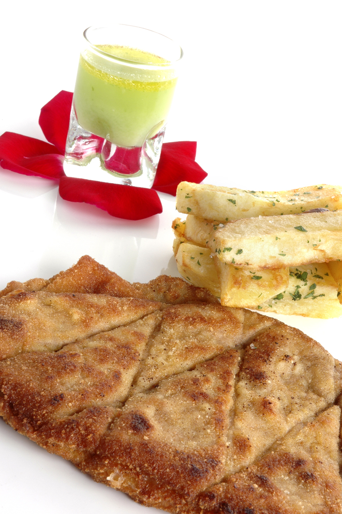 San jacobos de redondo y gazpacho verde