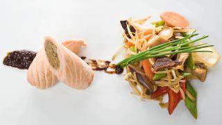 recets de pescado con setas shitake