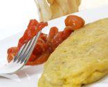 Tortilla de chips con morrones asados