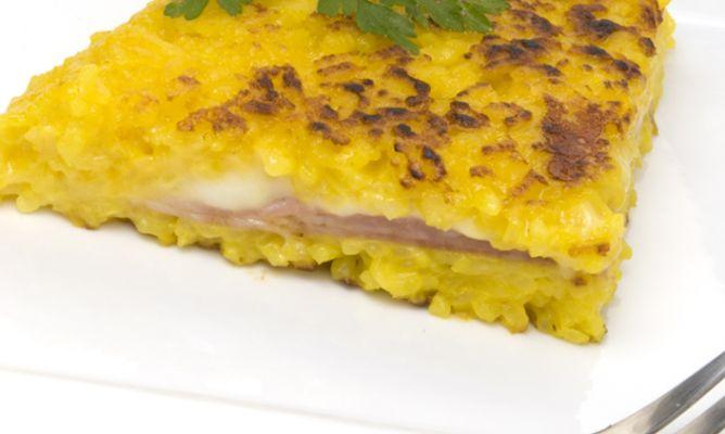 Receta de tarta de risotto al azafr n karlos argui ano - Escuela de cocina azafran ...