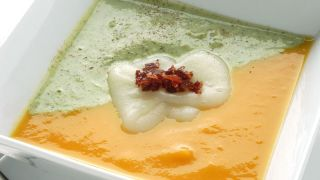 Crema de brócoli, calabaza y patata