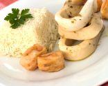 Calamar en escabeche con arroz