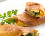 Crepes de pimiento verde con queso