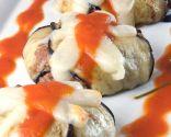 Charlota de berenjenas con carne y queso
