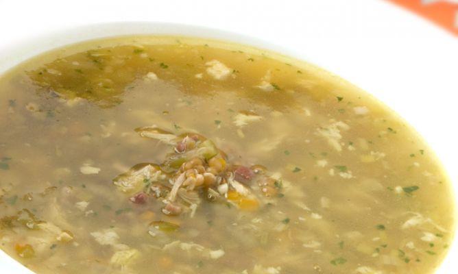 Receta De Sopa De Trigo Con Pollo Karlos Arguiñano