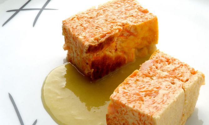 Receta de pastel de calabaza con crema de puerros karlos - Hojaldre de puerros y gambas ...