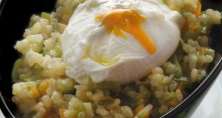 Arroz integral con verduras al curry