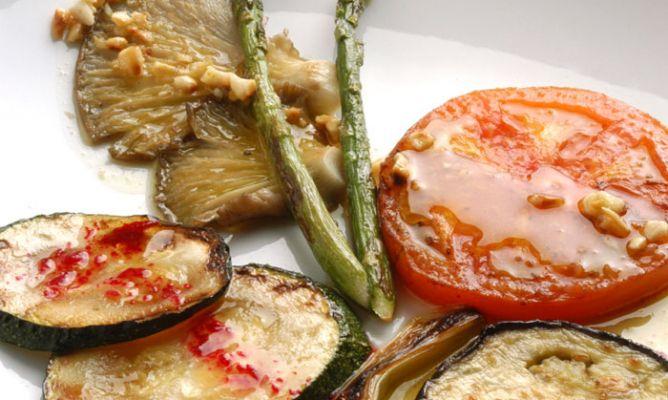 parrillada de verduras plancha