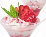Copa de fresas con crema