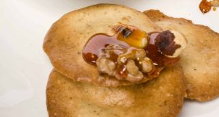 Galletas con frutos secos caramelizados