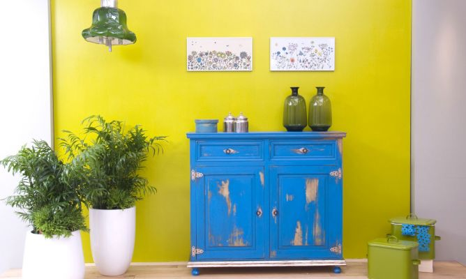 Artesanato E Reciclagem Com Garrafa Pet ~ Aparador azul Decogarden