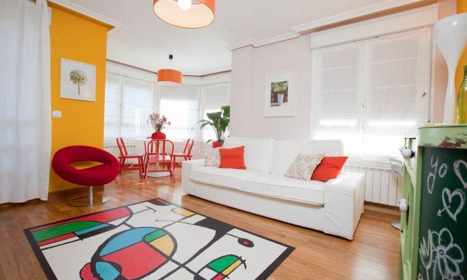 Sala con color y vida decogarden - Combinacion de colores para comedor ...