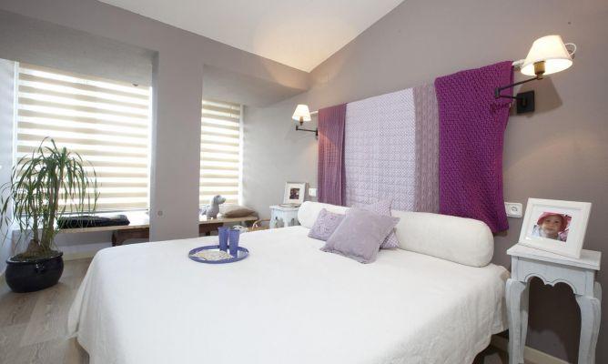 Dormitorio ntimo elegante y c lido decogarden - Estores habitacion matrimonio ...