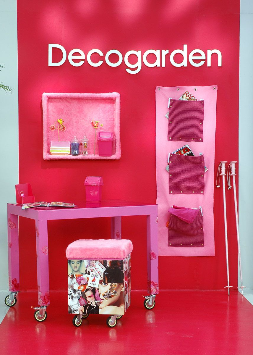 decorar estudio rosa