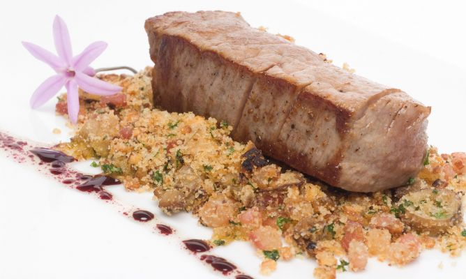Receta de champi ones a la provenzal con solomillo de for Solomillo de ternera