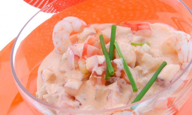 Receta de c ctel de pollo gambas y mayonesa karlos argui ano - Coctel de marisco ingredientes ...