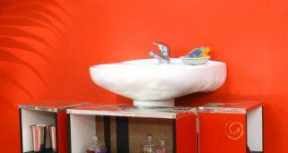 Mueble rojo para lavabo bricoman a for Estanteria bajo lavabo