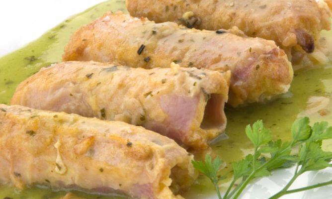 Receta de puerros con jam n cocido en salsa verde karlos - Salsa para bogavante cocido ...