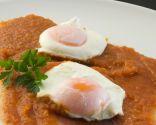 Huevo escalfado con magras