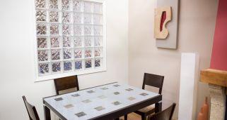 ventana con bloques de vidrio o pavs