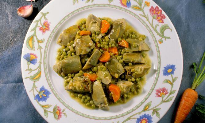 Receta De Alcachofas Con Zanahorias Guisadas