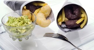 Receta de Aperitivo de fish and chips y aguacate
