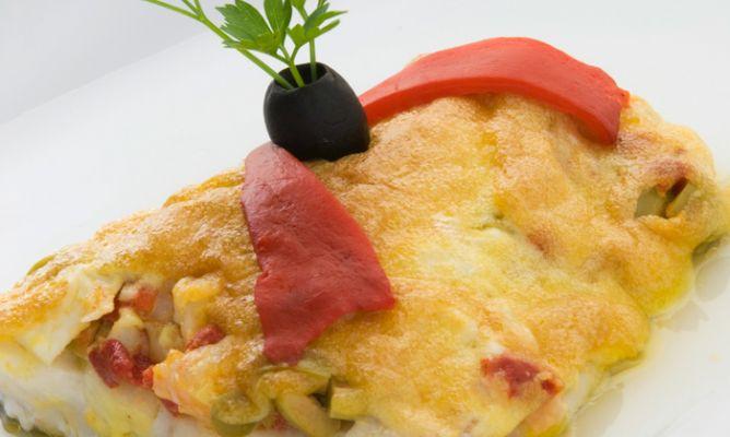 Receta de bacalao relleno al horno con mayonesa karlos for Como cocinar bacalao al horno