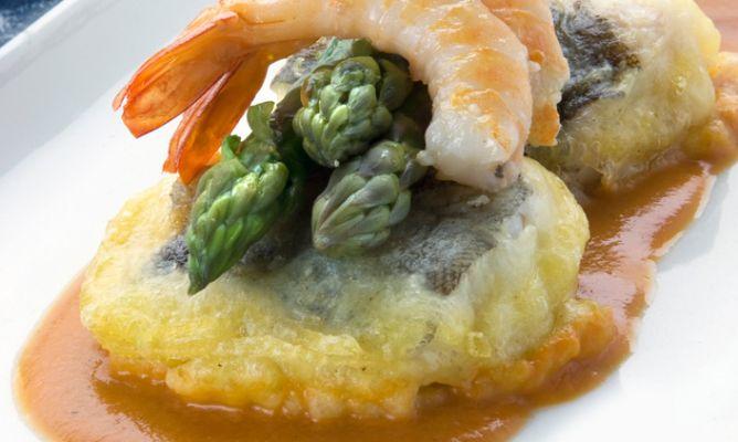 Receta de bacalao fresco en tempura con langostinos - Bacalao fresco con tomate ...