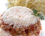 Berenjenas confitadas con arroz blanco