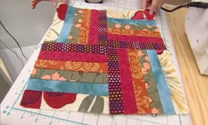 Quilt o colcha de patchwork Bloque 1 Hogarmania