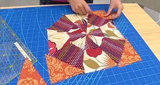 Quilt o colcha de patchwork Bloque 2 Hogarmania