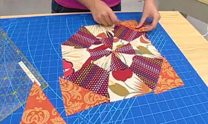 Quilt o colcha de patchwork bloque 2 hogarmania - Hacer una colcha de patchwork ...