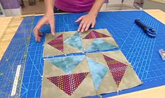 Quilt o colcha de patchwork Bloque 5 Hogarmania