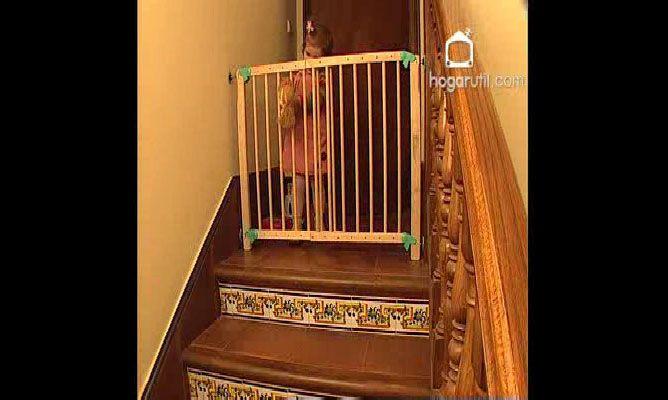 Barrera de seguridad para ni os bricoman a - Barreras seguridad escaleras ...