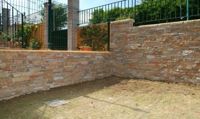 Piedra natural para exterior bricoman a - Revestimientos para paredes exteriores en piedra ...