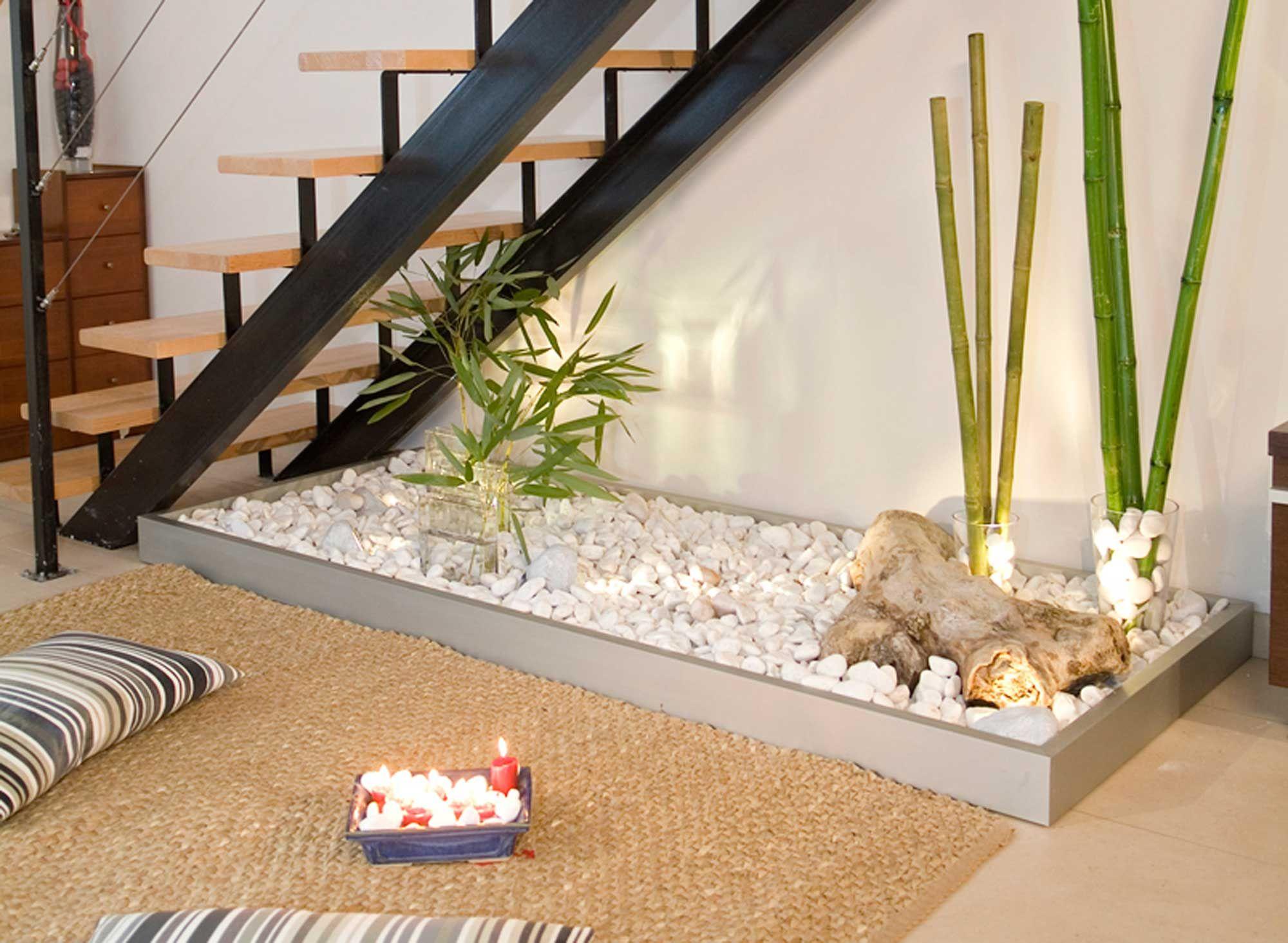 Rincón interior de estilo zen