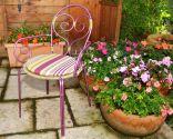 Restaurar silla de hierro para exteriores
